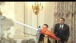 Обама встретился с юными изобретателями