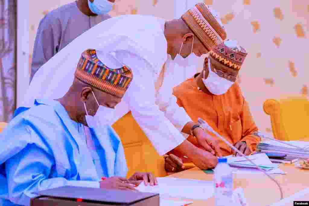 'Yan majalisar zartarwar gwamnatin Buhari (Facebook/Fadar gwamnati)