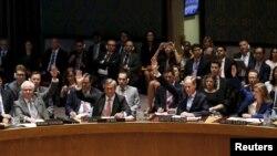 유엔 안전보장이사회가 20일 미국 뉴욕 유엔 본부에서 이란 핵 합의에 따른 제재 해제 결의안을 만장일치로 채택했다.
