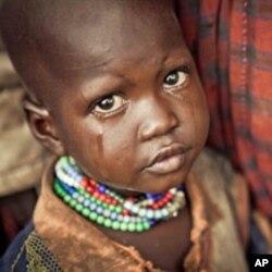 Young girl in Kenya's Turkana region.