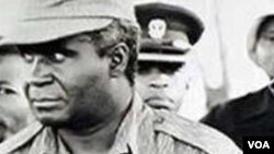 Kenneth Kaunda (left,) Samora Machel (center), Julius Nyerere