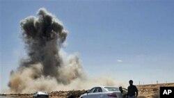 Dim nakon današnjeg zračnog napada libijskog zrakoplovstva