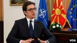 Predsednik Severne Makedonije Stevo Pendarovski, Foto: VOA