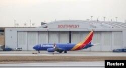 Southwest Hava Yollarına məxsus Boeing 737 MAX 8 təyyarəsi