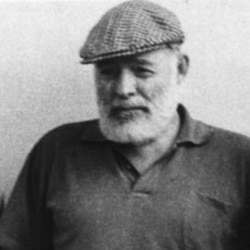 "Hemingway's first book of stories was called ""In Our Time."""