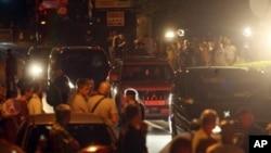 Policijska kolona vozila s Ivom Sanaderom