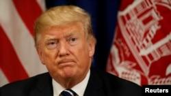 Prezidan ameriken an, Donald Trump, pandan li te nan Nasyon Zini.
