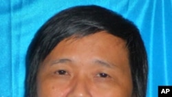 ທ່ານ Duong Kim Khai ນັກບວດ ຊຶ່ງເປັນນຶ່ງໃນຈໍານວນພວກ ນັກເຄື່ອນໄຫວທີ່ຖືກສານຕັດສິນໃຫ້ຈໍາຄຸກໃນຫວຽດນາມ. ວັນທີ 31 ພຶດສະພາ 2011