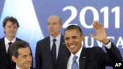 G20 정상회의에 참석한 사르코지 프랑스 대통령과 오바마 미국 대통령(우)