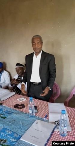 Sa Majesté Paul Marie Biloa Effa lors d'une assise du MRC dans le département du Mbam et Inoubou, à Yaoundé. (Crédit photo/MRC)