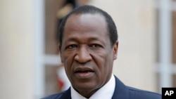Blaise Compaoré, l'ancien président du Burkina, 18 septembre 2012.