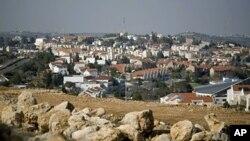 مغربی کنارے کی ایک یہودی بستی کا ایک منظر