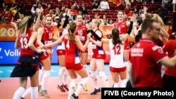 Odbojkašice Srbije slave pobedu nad selekcijom Italije i plasman u polufinale Svetskog prvenstva u Japanu (Foto: FIVB.com)