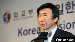 한국 윤병세 외교부 장관이 9일 외교부와 동아시연구원 공동 주최로 열린 '통일한국의 외교비전과 동아시아의 미래' 국제회의에서 기조연설을 하고 있다.
