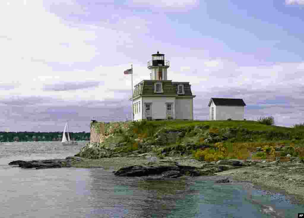 Rose Island Lighthouse in Rhode Island.