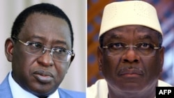 Malian presidential candidates Soumaila Cisse (Jan. 2013), left, and Ibrahim Boubacar Keita (May 2007), file photos.