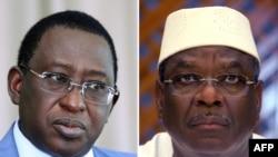 Les adversaires du second tour : Soumaïla Cissé (à g.) et Ibrahim Boubacar Keita