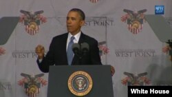 El presidente Barack Obama habla en la Academia Militar de West Point.