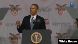 El presidente Barack Obama habla en la Academia Militar de West Point.