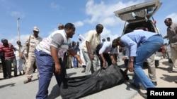 Abavukanyi begeranya uwabo yahitanwe n'igitero ca reta ya Somaliya ifashijwe na Amerika, mu ntara ya Lower Shabelle, Kw'itariki 25/09/2017.