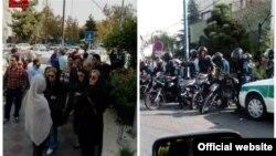 عکسی از تجمع هواداران محمدعلی طاهری مقابل بیمارستان بقیهالله در ۳۰ مهر