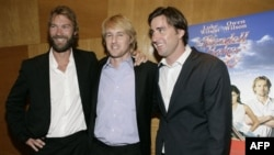 "Brothers Andrew Wilson, Owen Wilson, and Luke Wilson, from left, pose together at the premiere of ""The Wendell Baker Story"" in Beverly Hills, Calif. on Thursday, May 10, 2007. The film was co-directed by Andrew and Luke, written by Luke, and stars Luke a"