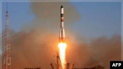 Запуск російського космічного корабля з космодрому Байконур