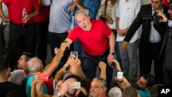 Metalúrgicos apoiam Lula em São Bernardo do Campo