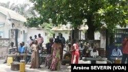 Manifestation des anciens travailleurs de la poste du Congo-Brazzaville, février 2020. (Arsène Séverin /VOA)
