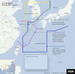 东中国海地区防空识别区: 韩国扩大后的防空识别区