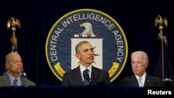 U.S. President Barack Obama speaks CIA