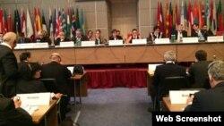 ATƏT Parlament Assambleyasında müzakirə (Foto Rəsul Cəfərovun Facebook səhifəsindən götürülüb)