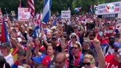 """Cientos frente a la Casa Blanca demandan """"acciones concretas"""" sobre Cuba"""