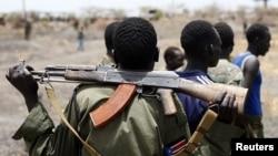 南蘇丹軍隊駐守油田附近 (資料圖片)