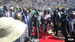 FILE: President Robert Mugabe at the National Heroes Acre on Monday, 2016