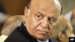 Yemen's Abed Rabbo Mansour Hadi says he will not participate in U.N.-brokered talks with Houthi rebels who control the capital and much of the country's north, Sept. 13, 2015,