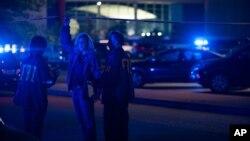 Федеральные следователи на месте преступления, Лафайетт, 23 июля 2015.