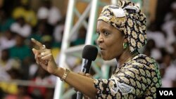 First Lady Grace Mugabe returned home Saturday after almost two months in the Far East.
