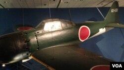 美國華盛頓史密森國家航空航天博物館展出的二戰期日本零式戰機。