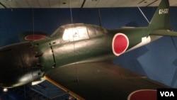 美国华盛顿史密森国家航空航天博物馆展出的二战期间日本零式战机。
