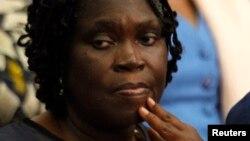 L'ex-première dame ivoirienne Simone Gbagbo, le premier jour de son premier procès à Abidjan le 26 décembre 2014.