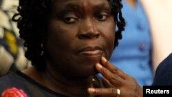 L'ancienne Première dame au Palais de justice d'Abidjan, le 16 décembre 2014.