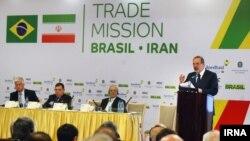 Brazil trade minister in Iran, Oct 2015, وزیر توسعه صنعت و تجارت برزیل در تهران