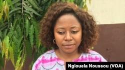 Irene Wabiwa, responsable de campagne foret à Greenpeac, à Pointe-Noire, 8 novembre 2017. (VOA/Nglouela Noussou)
