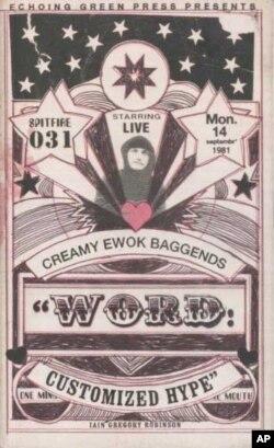 A poster advertising a Creamy Ewok show