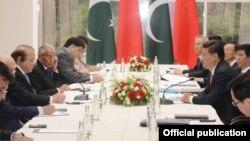 2015年7月10日金磚五國領導人﹐包括中國國家主席習近平(右)等在俄羅斯城市烏法舉行會議。