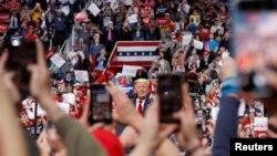 Başkan Donald Trump salgın öncesi son kampanya mitingini 2 Mart'ta Kuzey Carolina'da yaptı