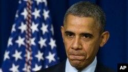 """美國總統奧巴馬於2013年12月2日發表""""世界愛滋病日""""講話。(資料圖片)"""