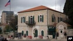 ساختمان کنسولگری آمریکا در اورشلیم. مارس ۲۰۱۹