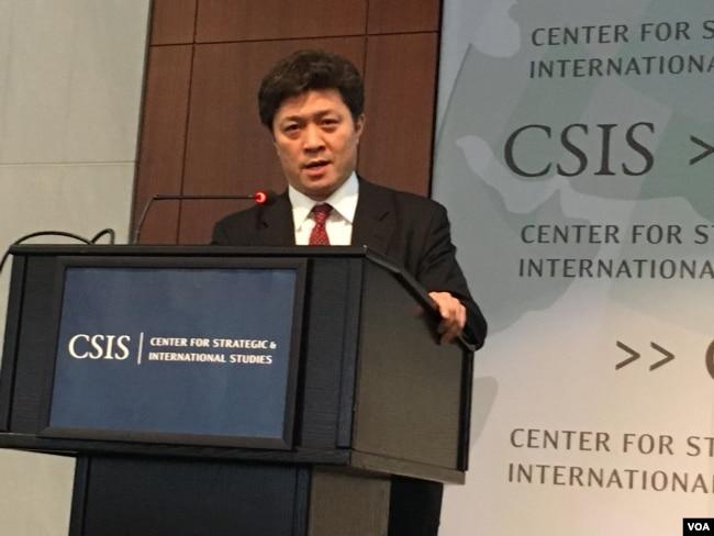 日本東京大學國際政治學教授松田康博(美國之音鐘辰芳拍攝)